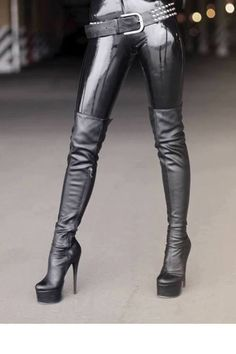 Sexy boots,and latex pants