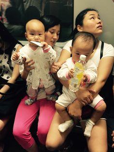 Shanghai metro babies