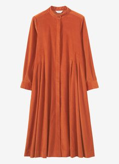 Buy Toast Needlecord Swing Shirt Dress, Persimmon, 8 from our Women's Dresses range at John Lewis & Partners. Free Delivery on orders over Muslim Fashion, Hijab Fashion, Fashion Dresses, Kurta Designs, Blouse Designs, Moroccan Dress, Dress Shapes, Islamic Clothing, Mode Hijab