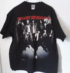 VELVET REVOLVER M/XL  T-SHIRT NEW N/T - #GraphicTee  #Velvet_Revolver #epicrights.com Graphic Tees, Graphic Sweatshirt, T Shirt, Velvet Revolver, New T, Music Bands, Baby Items, Xl, Brand New