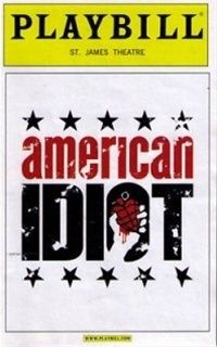 I love Green Day's music and i remember when their album American Idiot coming out we talked about it becoming a theatre piece. i found the original Broadway cast extraordinary. Wished I had seen it a second time!
