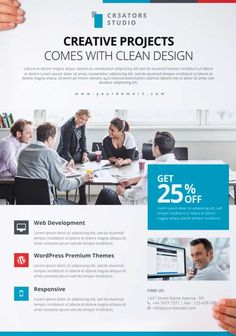 Download the Modern Business Free PSD Flyer Template - Free Flyer Templates & PSD Club Flyer Design - Download on FreePSDFlyer