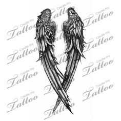 Fallen Angel wings custom tattoo   wing 3 #31092   CreateMyTattoo.com