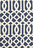 blue and white living room fabric