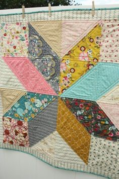 Scrappy Heart Quilt – Free Pattern and Tutorial – Hopeful Homemaker - My CMS Strip Quilt Patterns, Beginner Quilt Patterns, Quilting For Beginners, Easy Baby Quilt Patterns, Lone Star Quilt Pattern, Owl Patterns, Square Patterns, Quilting Patterns, Quilting Ideas