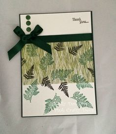 All About The Fern - card created using a Bee Crafty Stamp