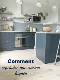 peindre de face de cuisine laquee - Recherche Google Ikea Kitchen, Kitchen Furniture, Home Furniture, Kitchen Cabinets, Cheap Furniture, Grey Kitchen Floor, Kitchen Flooring, Kitchen Island With Seating, Paint Colors For Living Room