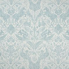 Clarke And Clarke Forest Trail Duckegg Fabric F1159/02.CAC.0 Clarke And Clarke Fabric, Dado Rail, Forest Trail, Fabric Blinds, Contemporary Fabric, Garden Studio, Made To Measure Curtains, Beautiful Forest, Watercolor Effects