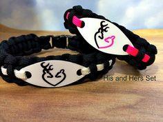 Couples Bracelet Set His & Hers Browning Bracelet by CJWPARACORD
