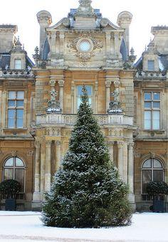 Christmas at Waddesdon Manor; Buckinghamshire, England.