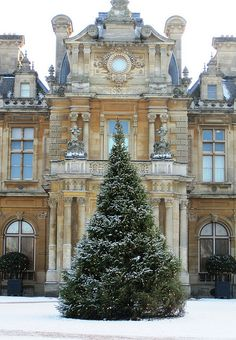 Christmas Tree in front of Waddesdon Manor by John of Witney