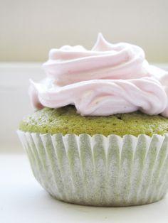 #cupcake #matcha #strawberry