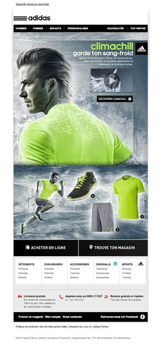 Newsletter Adidas Shop - Climachill | Baisse ta température