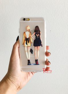 Best Friends Clear IPhone case,Best friends gift,Chic IPhone Case,IPhone Case Clear,Clear IPhone6 Plus Case,Cute Iphone case,Gift for her