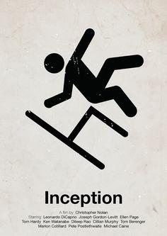 20 Minimal Movie Poster Designs (14) Inception