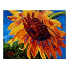 Sunflower in the Sunlight Posters  Sunflower Items. Gorgeous sunflowers on various customizable gifts. View more sunflower items: http://www.zazzle.com/tracytrends/gifts?cg=196289071872793213&ps=120&rf=238756979555966366&tc=PinKRM Add your own personalization. You can customize with text or additional images. #Sunflower #Flower
