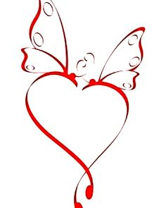Butterfly Heart for you. luv u....mom