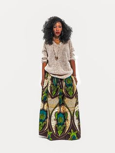 www.cewax.fr aime ce look en wax. Mode femme afro tendance, style ethnique, tissus africains: wax, ankara, kente, kitenge, bogolan... African Fashion, ethno tendance, African Prints, African clothing EthnicFusion Hey, I found this really awesome Etsy listing at https://www.etsy.com/listing/224003744/new-niki-skirt