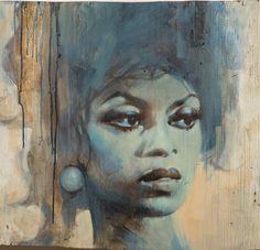 Artist Glenn Barr – Painting on Wood