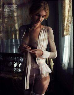 Patricia van der Vliet & Josephine Skriver by Benny Horne (Beauty & Sadness - Vogue Russia June 2012