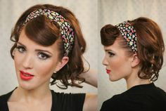 ... tutos de style rockabilly glamour  Rockabilly, Coiffures and Pin Up