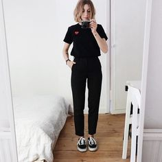 Comme Des Garcons PLAY Black Tee Ladies Large via Style and Wellbeing. Click on the image to see more!