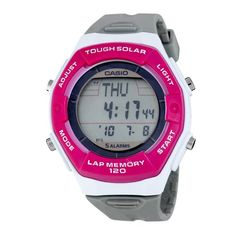 Casio Women's LWS200H-4ACF Solar Runners 120-Lap Grey and Pink Digital Sport Watch for only $17.95 You save: $22.00 (55%) + Free Shipping