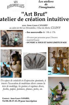 "Atelier ""art brut"" tous les mercredis après-midi à Cluny."