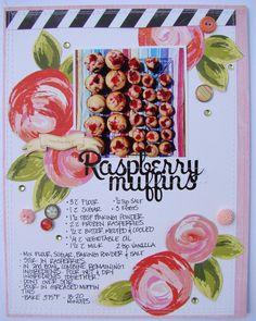 Raspberry Muffins - Scrapbook.com - Document a favorite recipe.