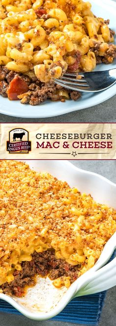Kick up your mac and cheese game with this recipe for Cheeseburger Mac and Cheese! Made with Certified Angus Beef ®️ brand ground beef, fire roasted tomatoes, Worcestershire sauce and the perfect blend of spices, this incredible dinner recipe is perfect for adults and kids alike! Make it in a big batch and easily save it for dinner all week long. #bestangusbeef #certifiedangusbeef #beefrecipe #macncheese #dinnerrecipes #cheeseburgerrecipe