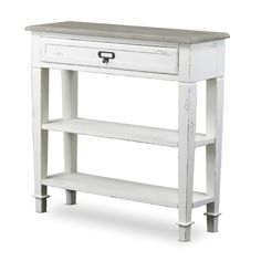 Dauphine Traditional French Accent White Console Table