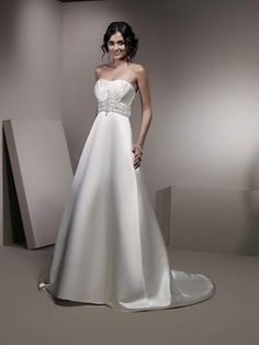 with Beading work by Soft Satin wedding dresses