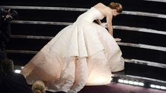 #JenniferLawrence #oscars-fall-2013 in #Diorcouture