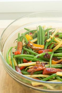 Chef Jamie Levine's Haricots Verts w/ Balsamic, Peppers & Onion
