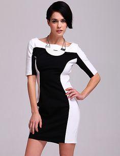 preto e branco vestido