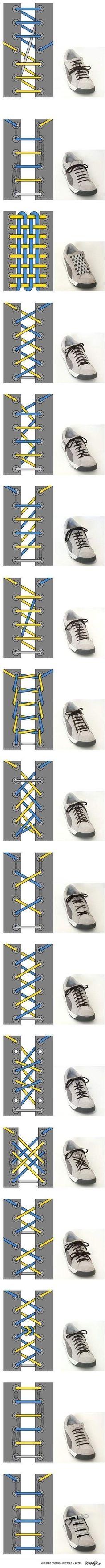 17 sposobów wiązania sznurówek