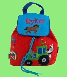 Personalized Stephen Joseph FARM Backpack In by DeerpathDesigns