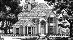 European House Plan with 3 Bedrooms and 2.5 Baths - Plan 2831
