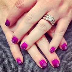 {Holly} picked a super bright purple with purple sparkle ombré for her free birthday mani 🎈🎉🎂💅🏼#glossbeautybarsheboygan