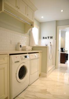 Laundry Room with dog bath