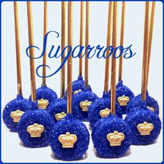 12 Royal Prince Oreo Pops Royal Blue and Gold Candy Buffet Little Prince or Princess Oreo Pops Baby Shower Christening Communion Birthday by Sugarroos on Etsy https://www.etsy.com/listing/463067075/12-royal-prince-oreo-pops-royal-blue-and