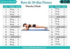 Reto de la plancha para definir abdominales en 30 días | Reto de 30 días Fitness