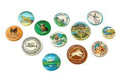 Vintage British Holiday Souvenir Badges