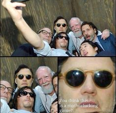 The Walking Dead funny .No selfies for Brillip