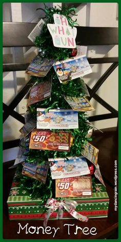 DIY gift idea: Who says money doesn't grow on trees? It does when you give someone a lotto tree!