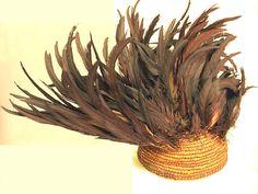 Feather Headdress 19th–20th century Democratic Republic of the Congo, Central Africa Tikar Feathers, vine, fiber, cotton cloth, string