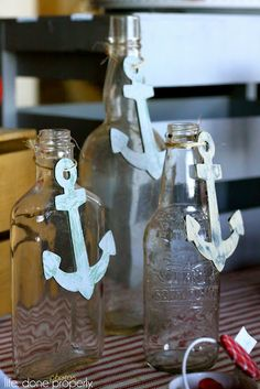cute for decoration! Also, we could have a bottle and have people put baby advice or notes to baby on the papers and roll them up and place them in a large bottle... message in a bottle!!!!