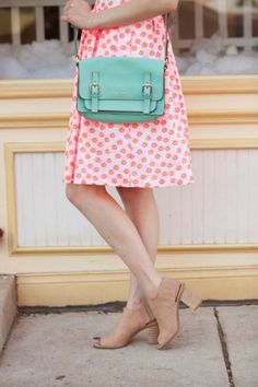 mint + coral (love those Target shoes!)