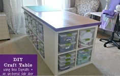 IKEA Share Space - when my craft room moves upstairs, this is the table I am looking to make
