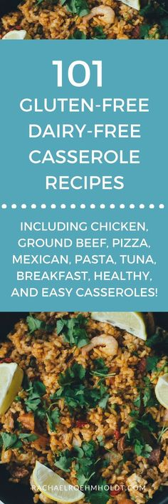 Included in this recipe roundup are: gluten-free dairy-free chicken casserole recipes ground beef casserole recipes pizza casserole recipes Mexican casserole recipes pasta casserole recipes tuna casserole Dairy Free Dips, Dairy Free Pizza, Dairy Free Recipes Easy, Healthy Pizza Recipes, Lactose Free Hamburger Recipes, Gluten Free Food List, Enchiladas, Healthy Casserole Recipes, Freezer Recipes